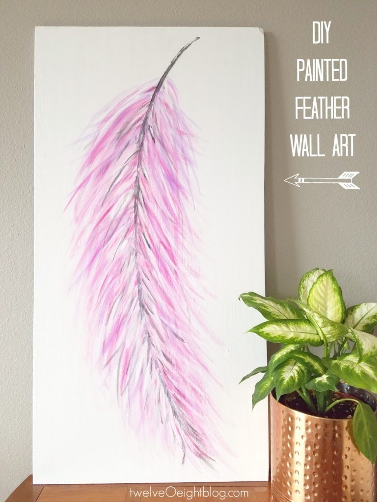 Well I Wish I Had A Better Reason Than Just Being Plain Old Crazy Pertaining To Newest Feather Wall Art (View 2 of 20)