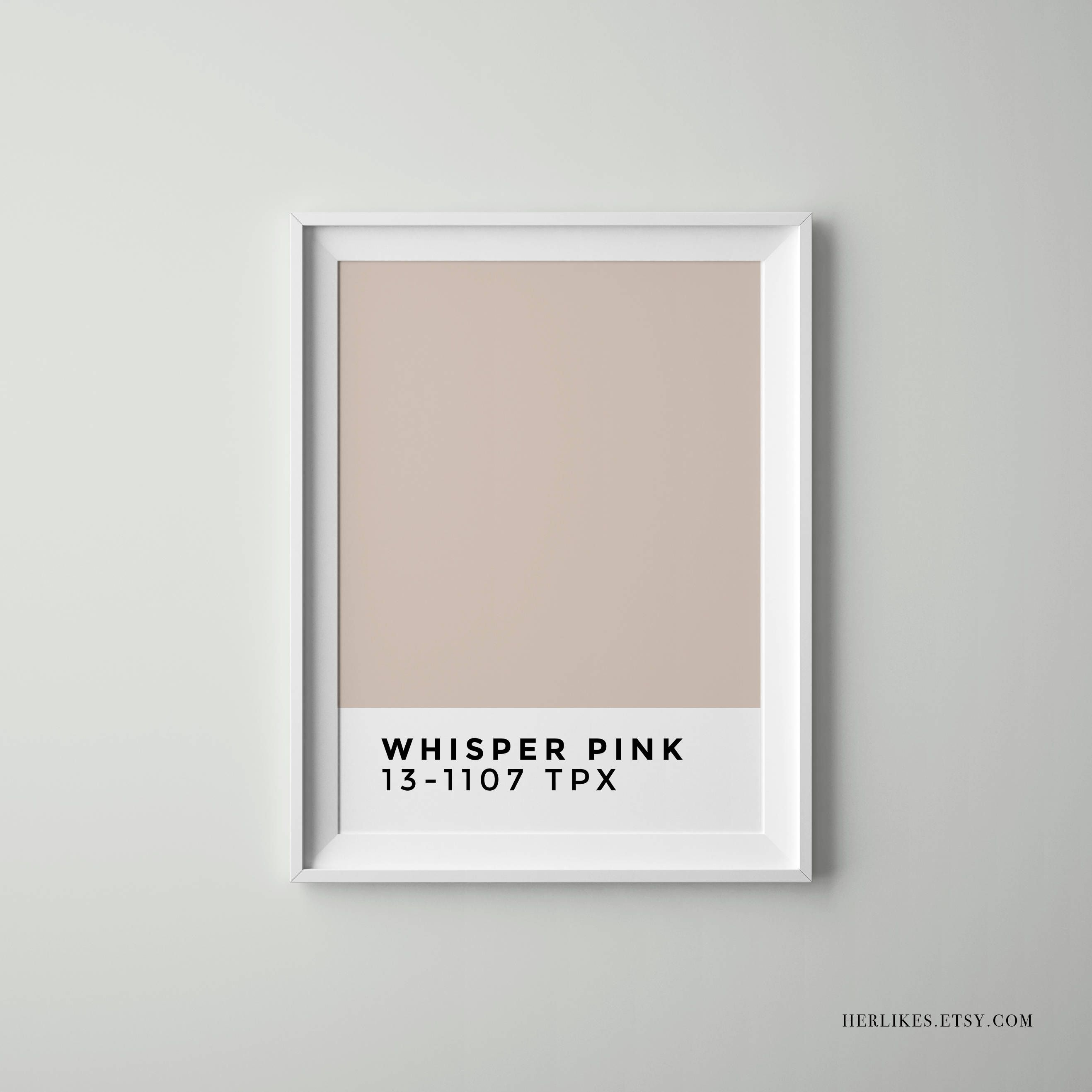 Whisper Pink, Pantone, Minimalist Home Decor, Scandinavian Decor With Recent Tumblr Wall Art (Gallery 15 of 20)