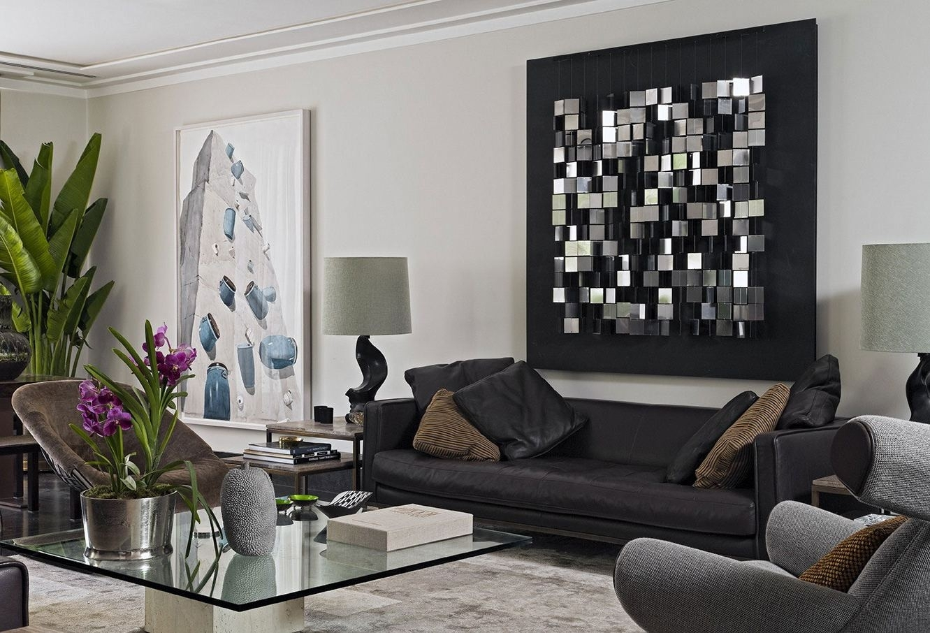 White Living Room Furniture Decorative Gold Finishes Wall Art Within Latest Modern Wall Art Decors (View 4 of 20)