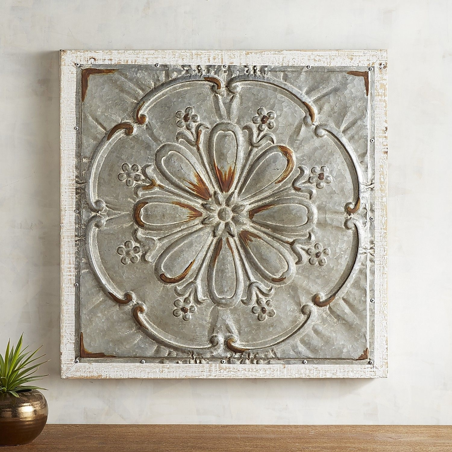 Whitewashed Medallion Wall Decor | Pinterest | Wall Decor, Walls And Inside Most Up To Date Medallion Wall Art (View 8 of 20)