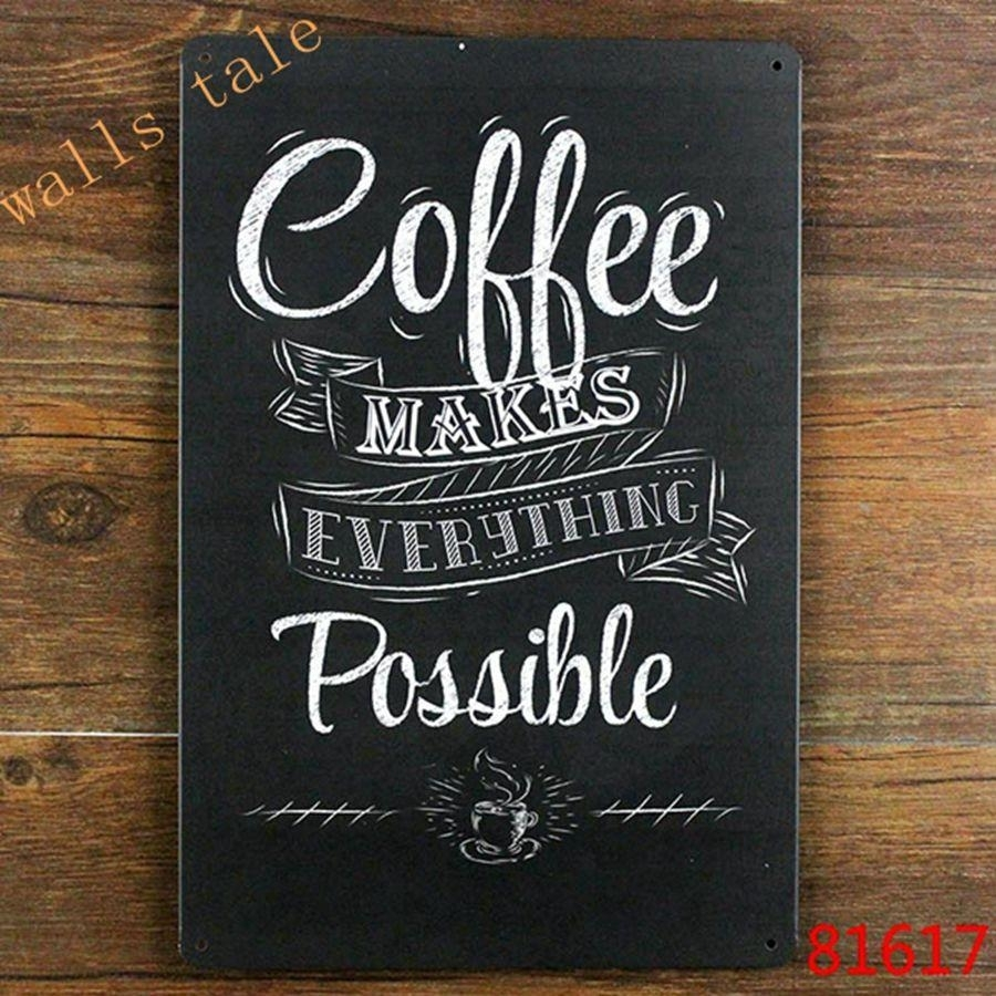 Wholesale Vintage Metal Painted Coffee Wall Art Decoration – Coffee In Latest Coffee Wall Art (View 3 of 15)