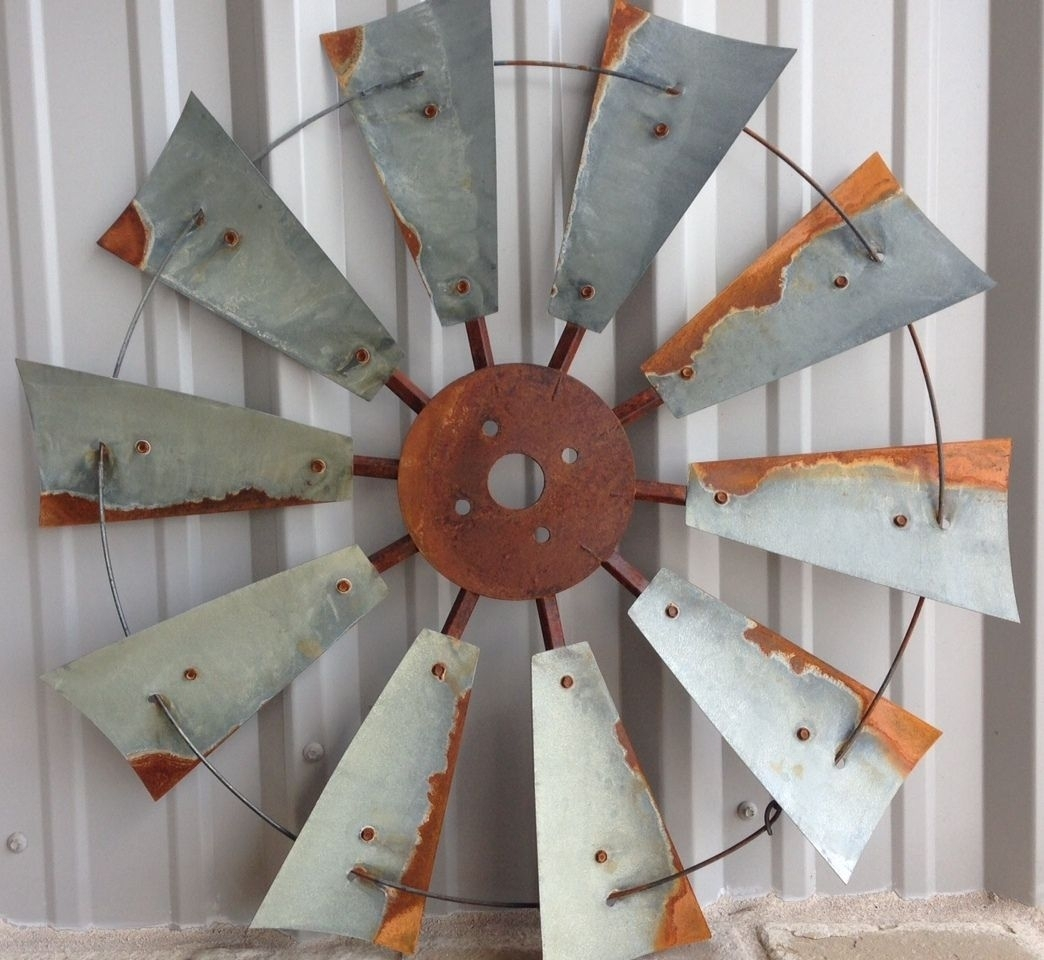 Windmill Decor, Rustic Windmill Heads, Old Windmill Heads, Old Intended For 2017 Windmill Wall Art (Gallery 7 of 20)