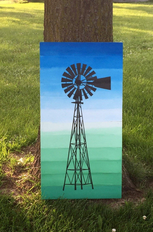 Windmill Painting, Windmill Wall Art, Wood Planked Windmill Wall Art Within 2018 Windmill Wall Art (View 14 of 20)