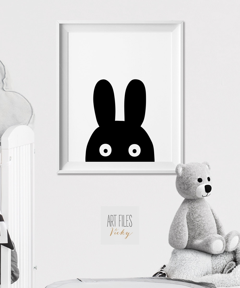 Winsome Bunny Wall Art – Ishlepark For Best And Newest Bunny Wall Art (View 9 of 20)