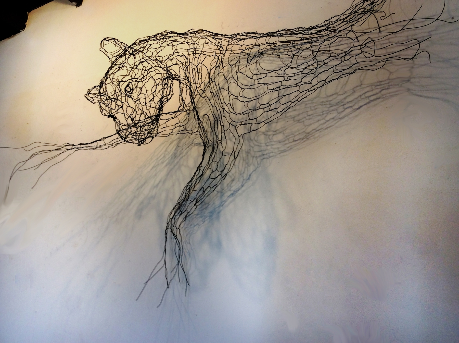 Wire Wall Art | Wire Sculpture And Illustration Within Most Up To Date Wire Wall Art (View 13 of 20)