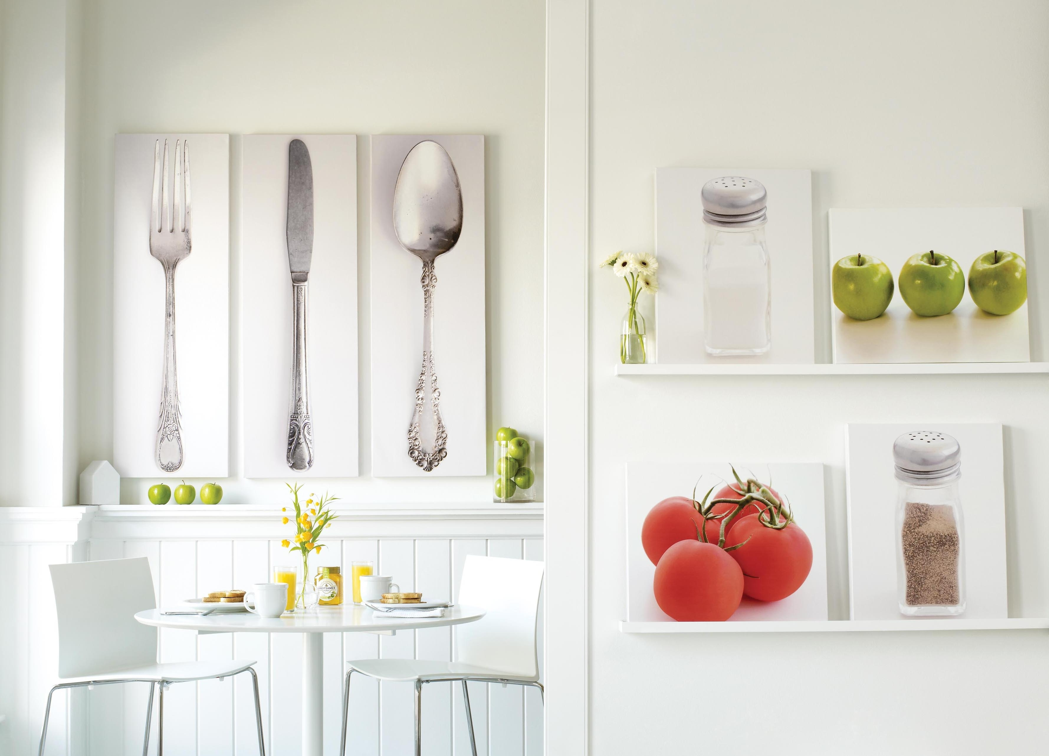 Wondrous Knife,spoon And Fork Pictures As Kitchen Wall Decor In Pertaining To 2018 Modern Wall Art Decors (View 14 of 20)