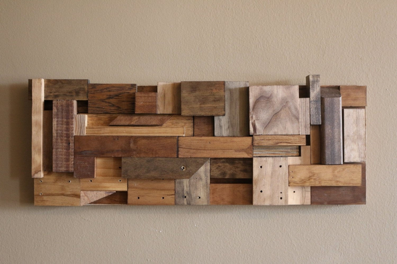 Wood Block Wall Art Interior Diy Wood Art Diy Scrap Wood Wall Art Pertaining To Newest Diy Wood Wall Art (View 16 of 20)