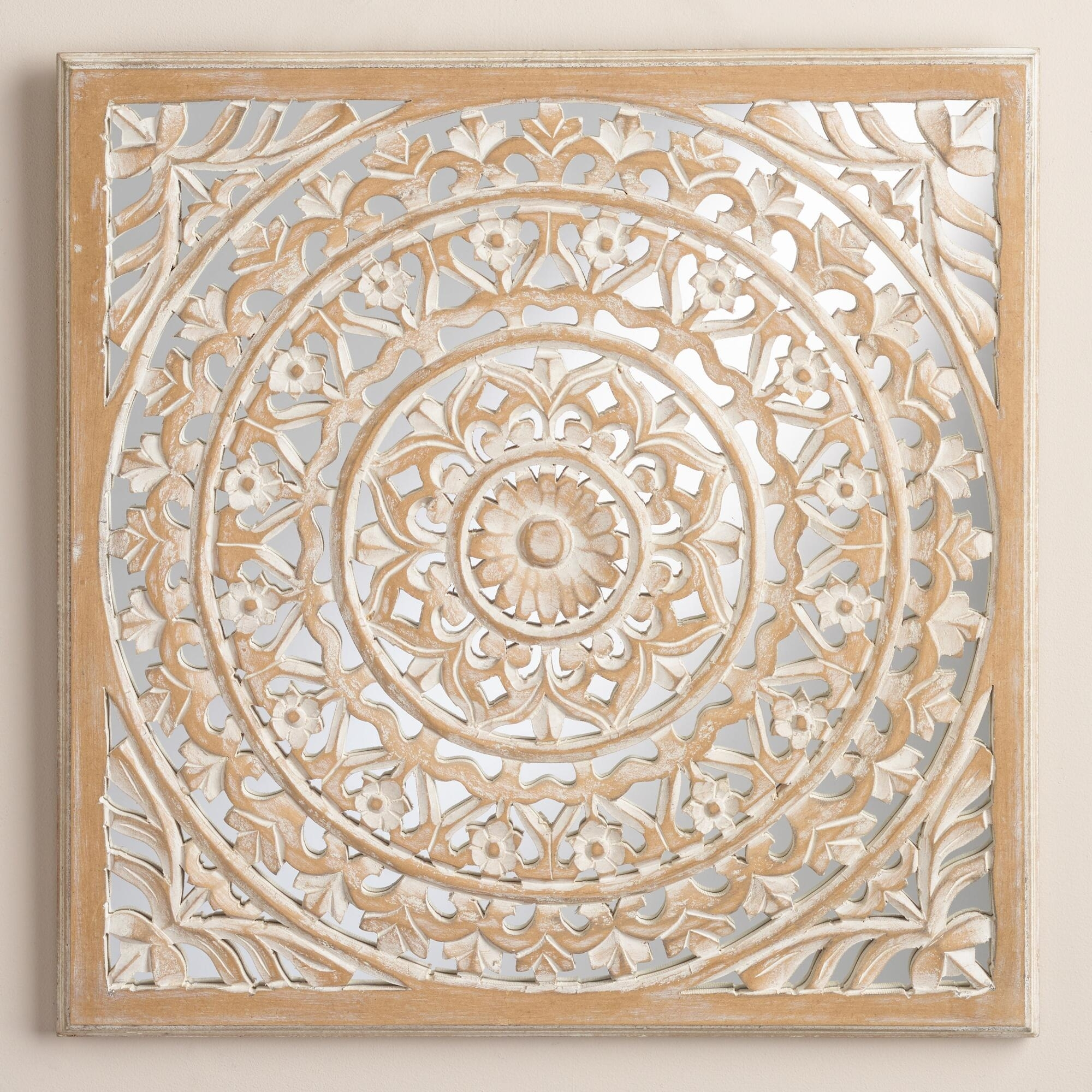 Wood Medallion Wall Art Stickers Scrolled Metal Wall Medallion Decor With Most Recently Released Wood Medallion Wall Art (View 15 of 20)