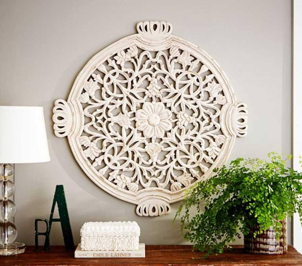 Wood Medallion Wall Art Wood Medallion Wall Art Floral Carved | Home With Recent Medallion Wall Art (View 14 of 20)