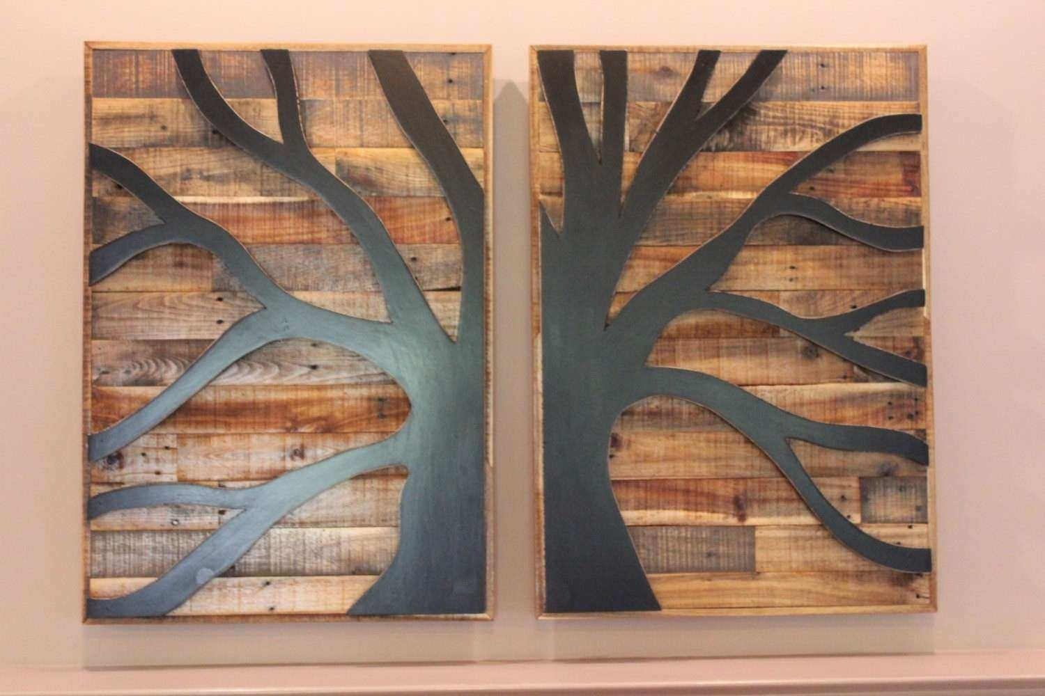 Wood Pallet Wall Art Fresh Pallet Wood Tree Of Life Pallet Wood Wall Throughout Current Pallet Wall Art (View 13 of 15)