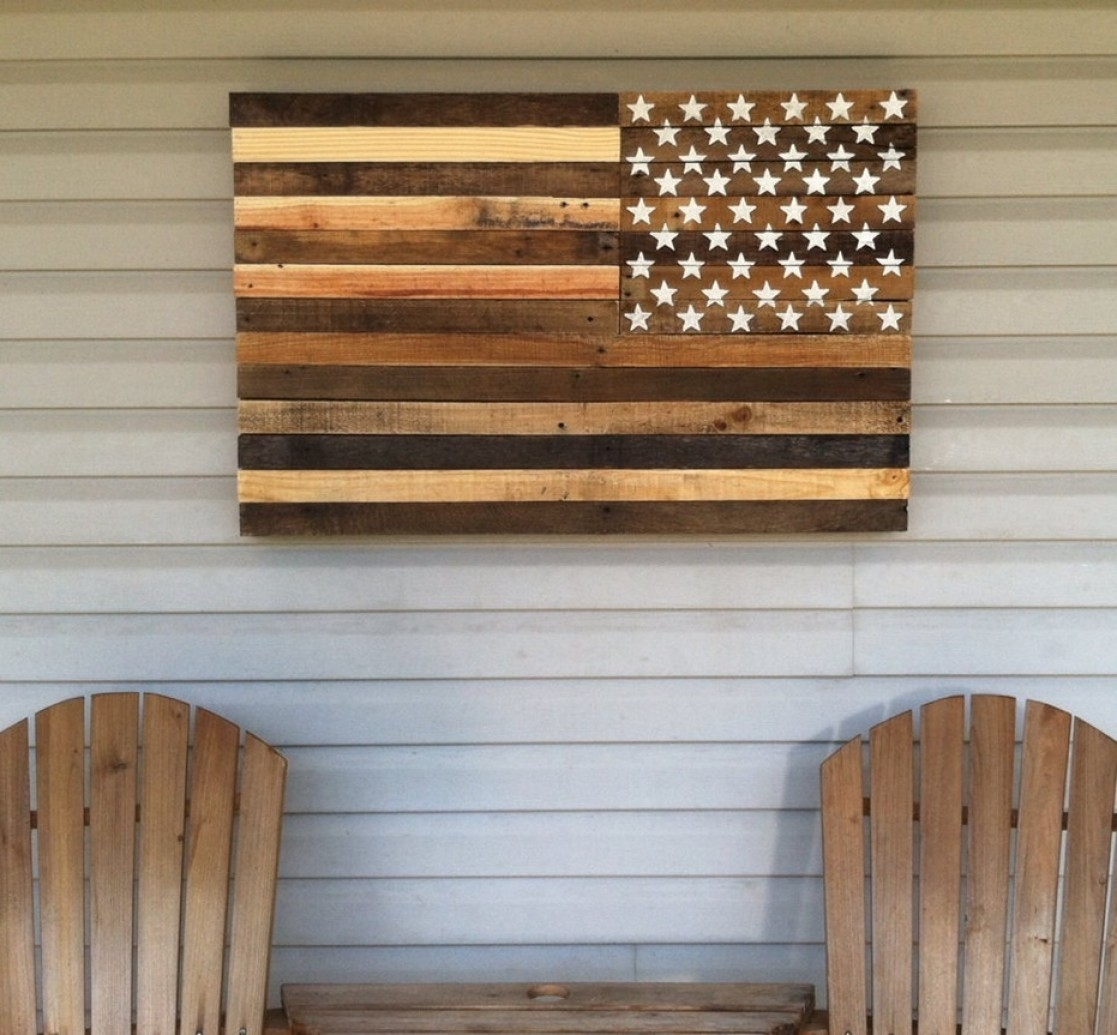 Wood Pallets Decorating Art Ideas Exclusive Wood Pallet Wall Decor Inside Current Pallet Wall Art (View 13 of 15)