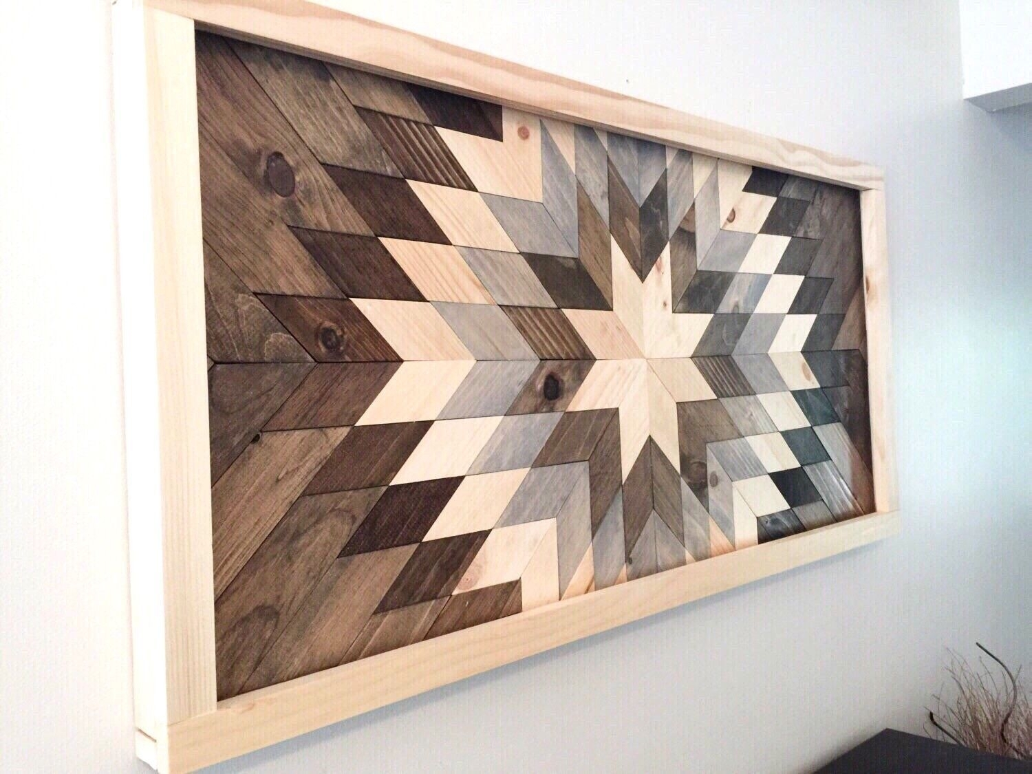 Wood Piece Wall Art Wood Wall Art, Wooden Sunburst | Wooden Walls Throughout Most Popular Reclaimed Wood Wall Art (View 6 of 15)