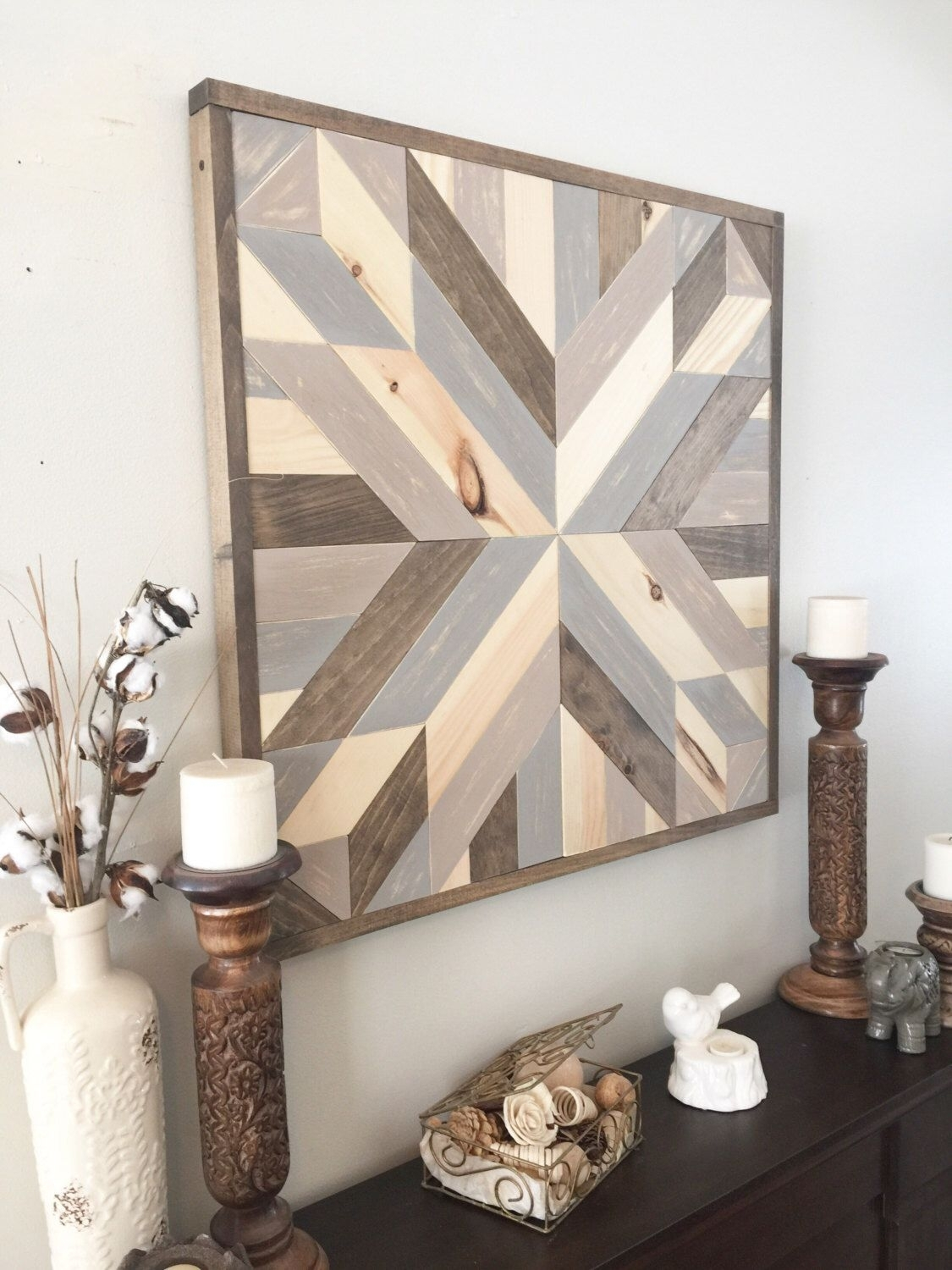Wood Wall Art, Geometric Art, Boho Decor, Aztec Decor, Farmhouse Within Current Rustic Wall Art (View 13 of 15)
