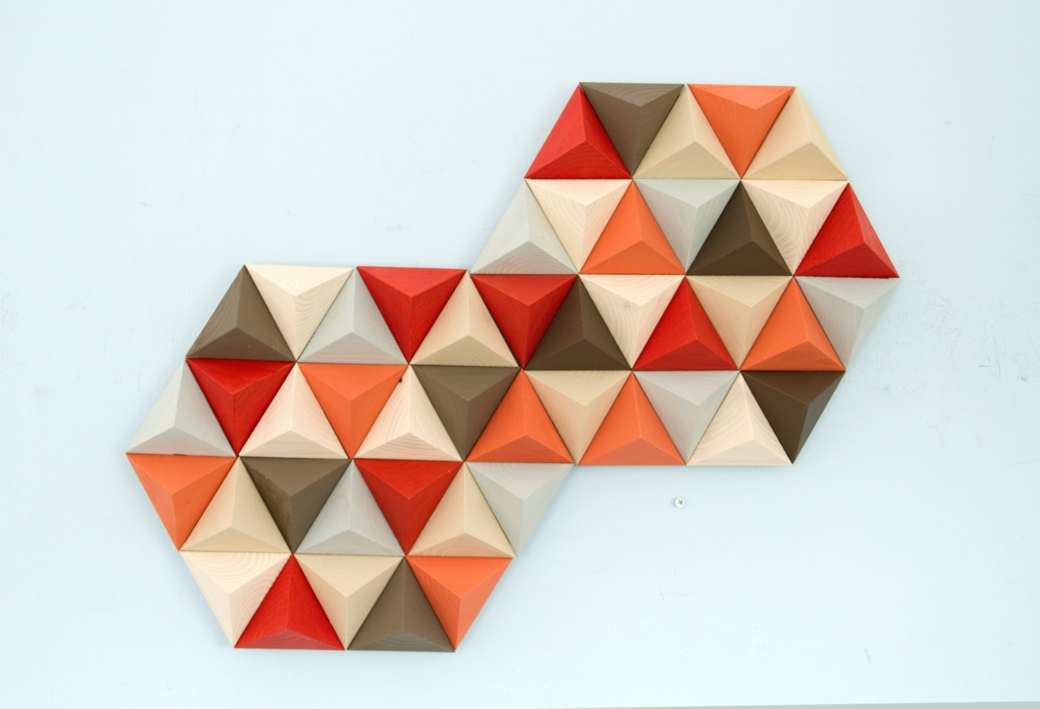 Wood Wall Art Geometric, Hexagon, Mid Century Wall Art, Sale Unique Intended For Newest Geometric Wall Art (View 19 of 20)