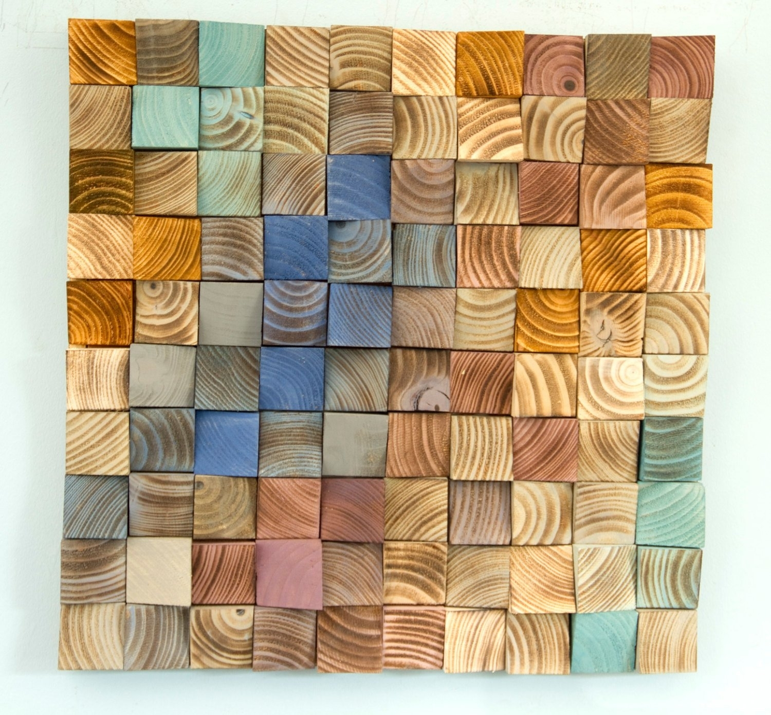 Wood Wall Art, Mosaic Wodd Art, Geometric Wall Art Throughout Current Geometric Wall Art (View 20 of 20)