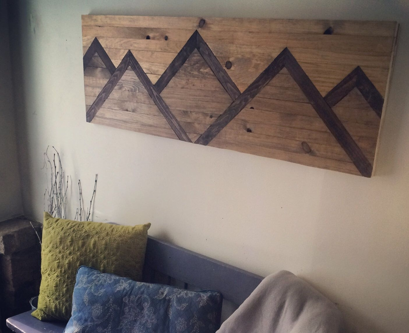 Wood Wall Art Mountain Range | Home: Wall Art | Pinterest | Wood Pertaining To Newest Diy Wood Wall Art (Gallery 1 of 20)