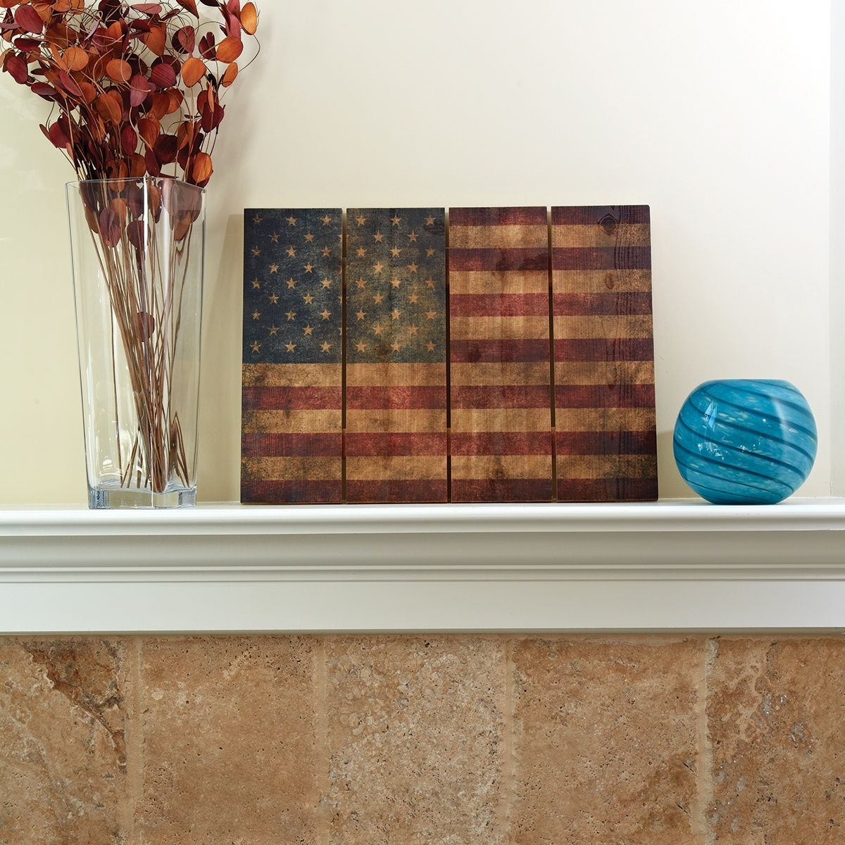 "Wooden American Flag Wall Art (22"" X 16"") – From Sportys Preferred Intended For Best And Newest American Flag Wall Art (Gallery 3 of 15)"