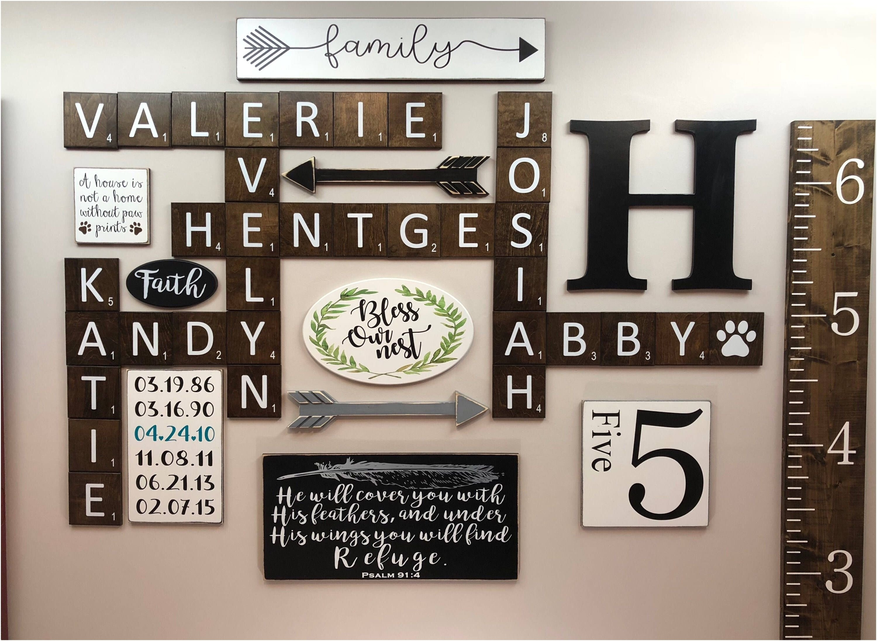 Wooden Initial Letters Wall Beautiful 36 Luxury Family Scrabble Wall Regarding Most Recent Scrabble Wall Art (View 6 of 20)