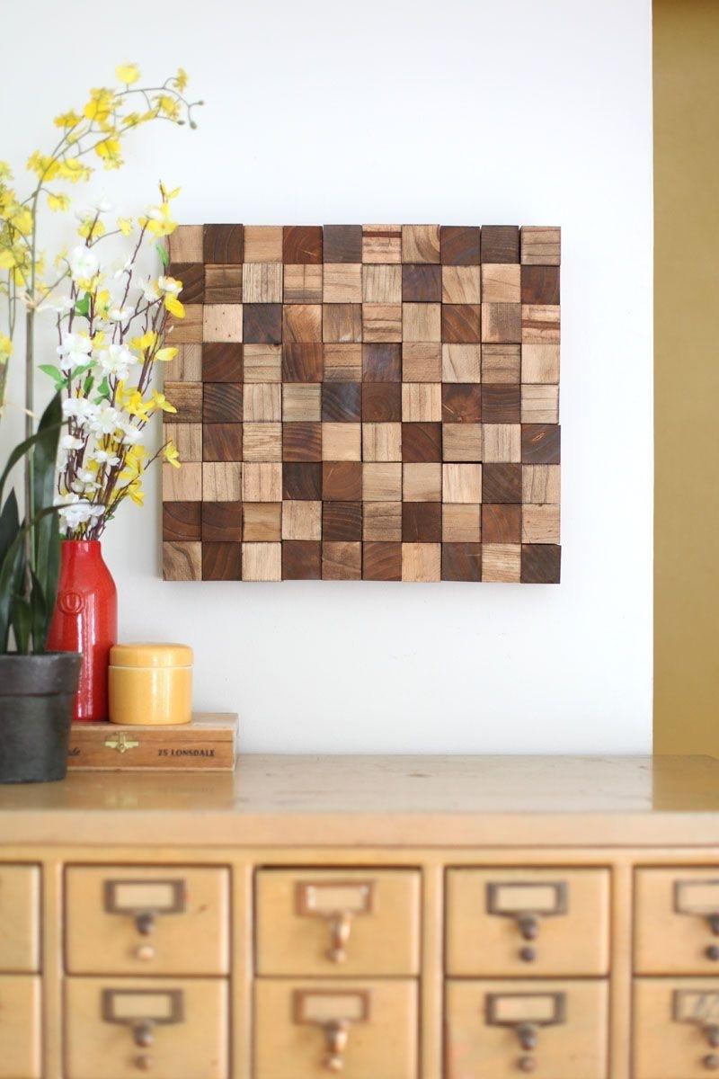 Wooden Mosaic Wall Art Diy | Home Diy | Pinterest | Mosaic Wall Art Intended For Most Recent Wood Wall Art Diy (View 2 of 15)