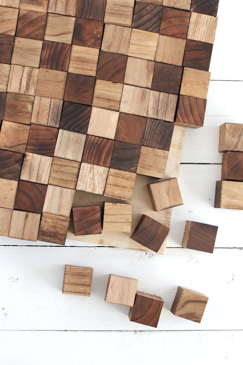Wooden Mosaic Wall Art Diy | M A K E | Pinterest | Mosaic Wall Art Within Most Popular Wood Wall Art Diy (View 6 of 15)