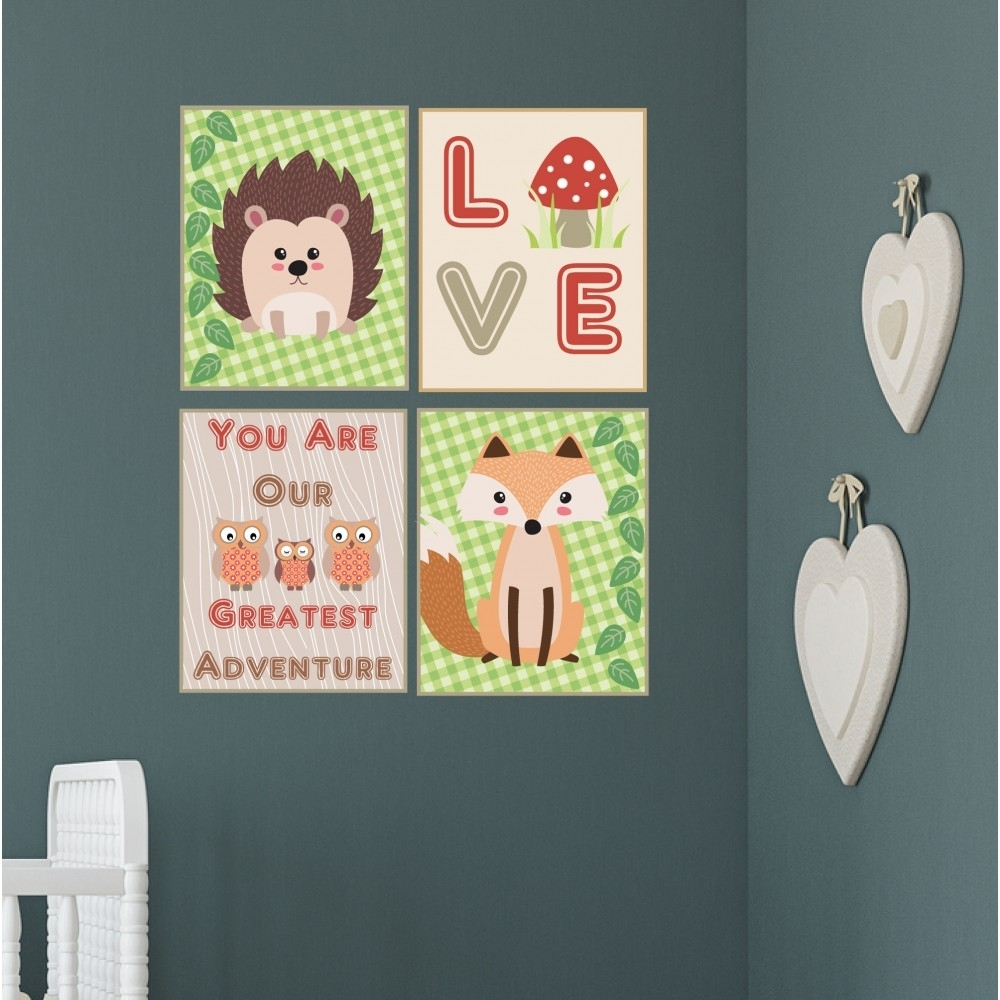 Woodland Animal Nursery Wall Art Prints With 2018 Woodland Nursery Wall Art (View 15 of 20)