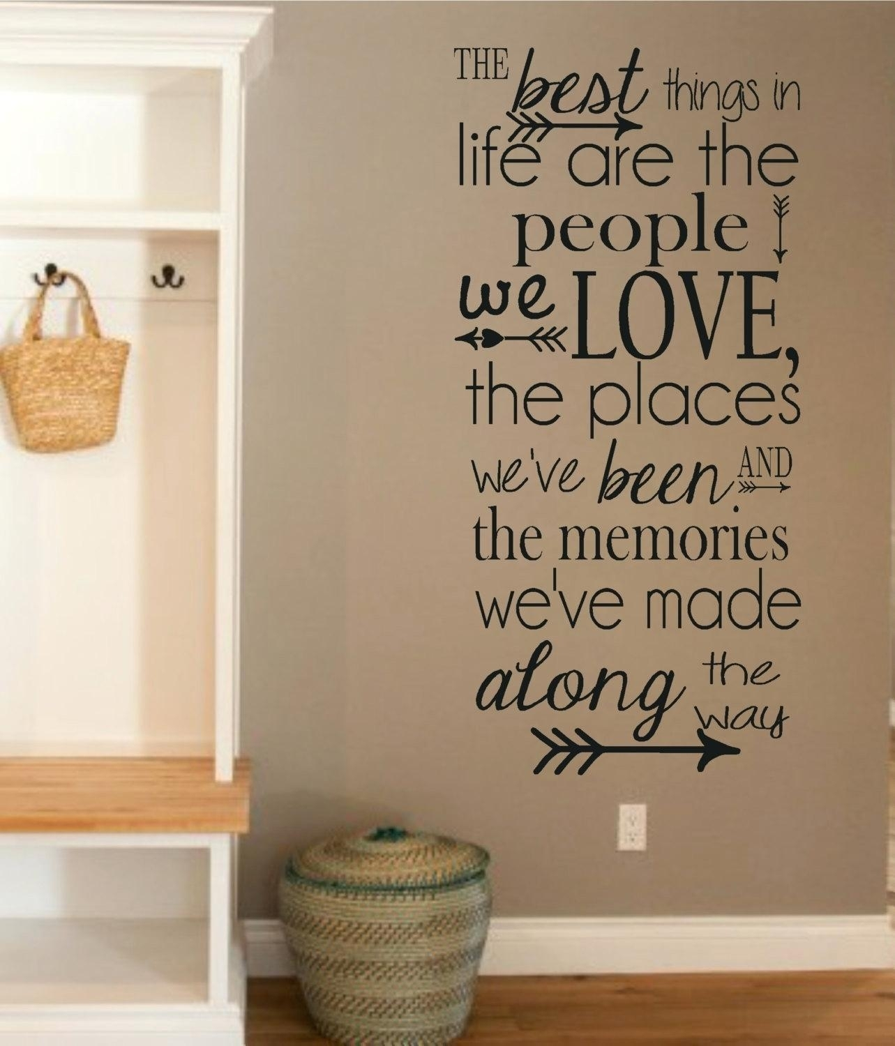 Word Decals For Wall – Gutesleben For 2017 Word Wall Art (Gallery 17 of 20)