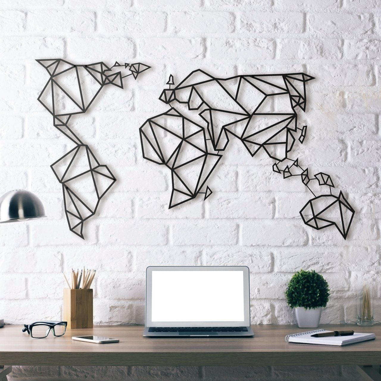 World Map Metal Wall Art | Products To Buy | Pinterest | Steel Pertaining To Current Black Wall Art (View 20 of 20)