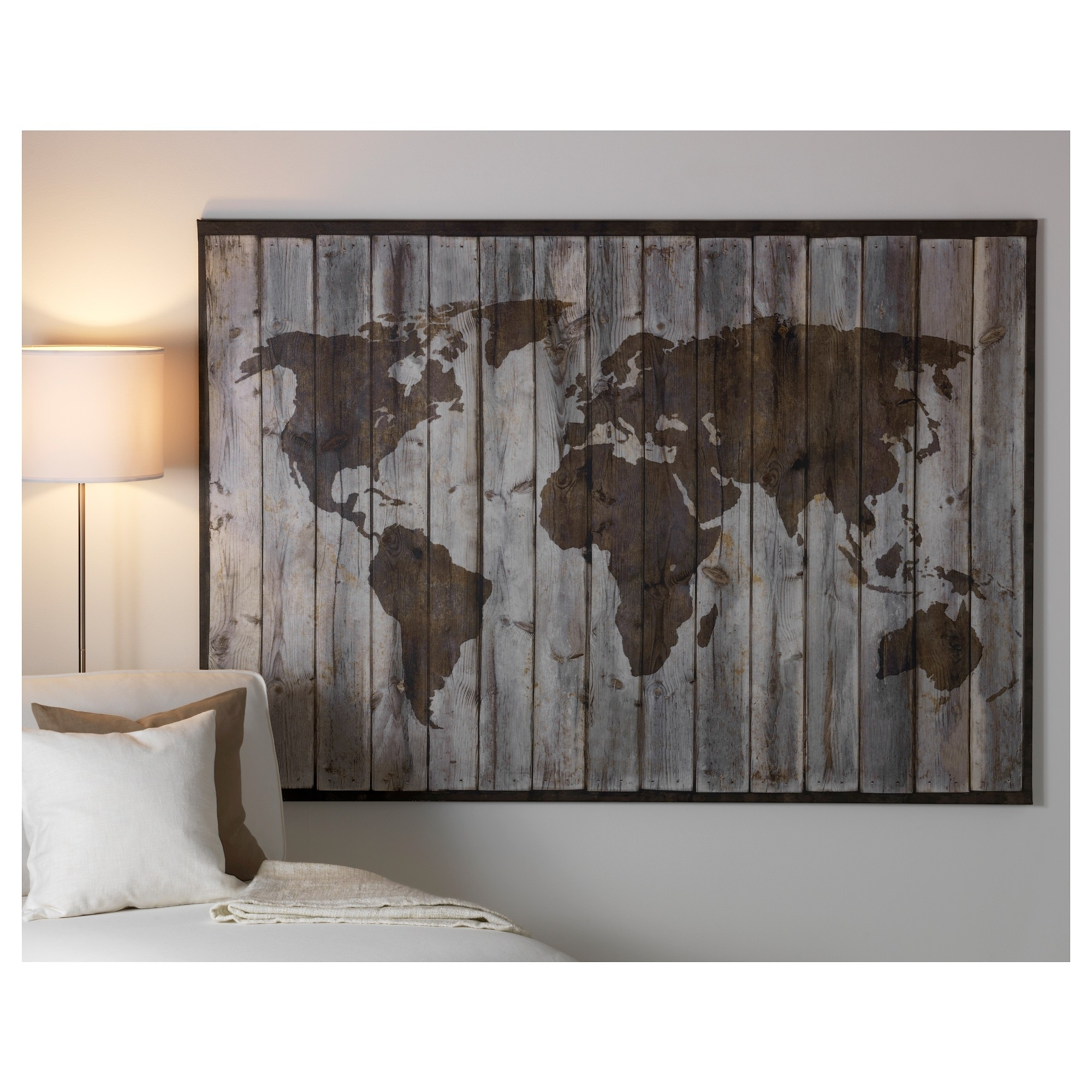 World Map Poster Ebay Best Posters Wall Art Ikea World Map Canvas Inside Most Recently Released Ikea Wall Art (View 3 of 15)