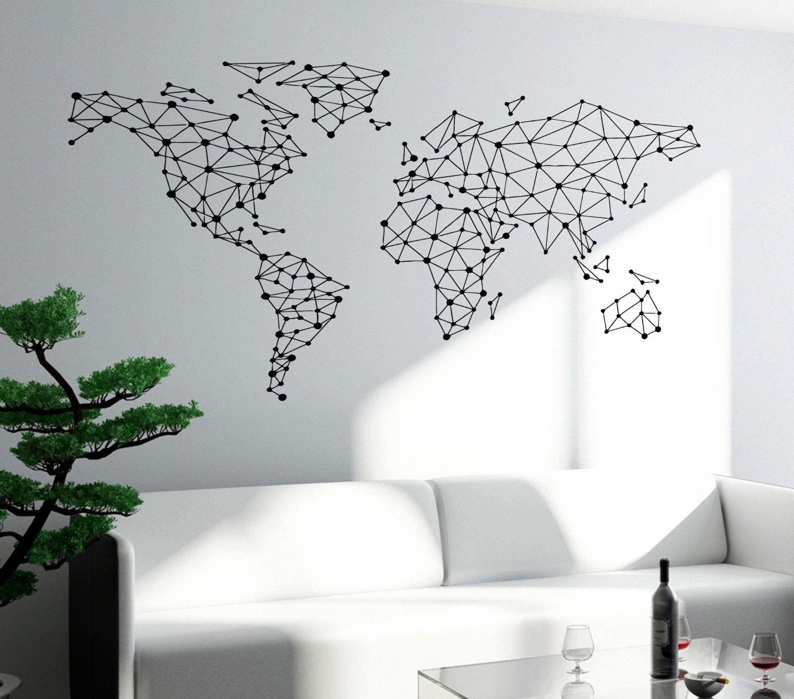 World Map Wall Art – World Maps Collection Within 2017 Map Of The World Wall Art (Gallery 7 of 20)