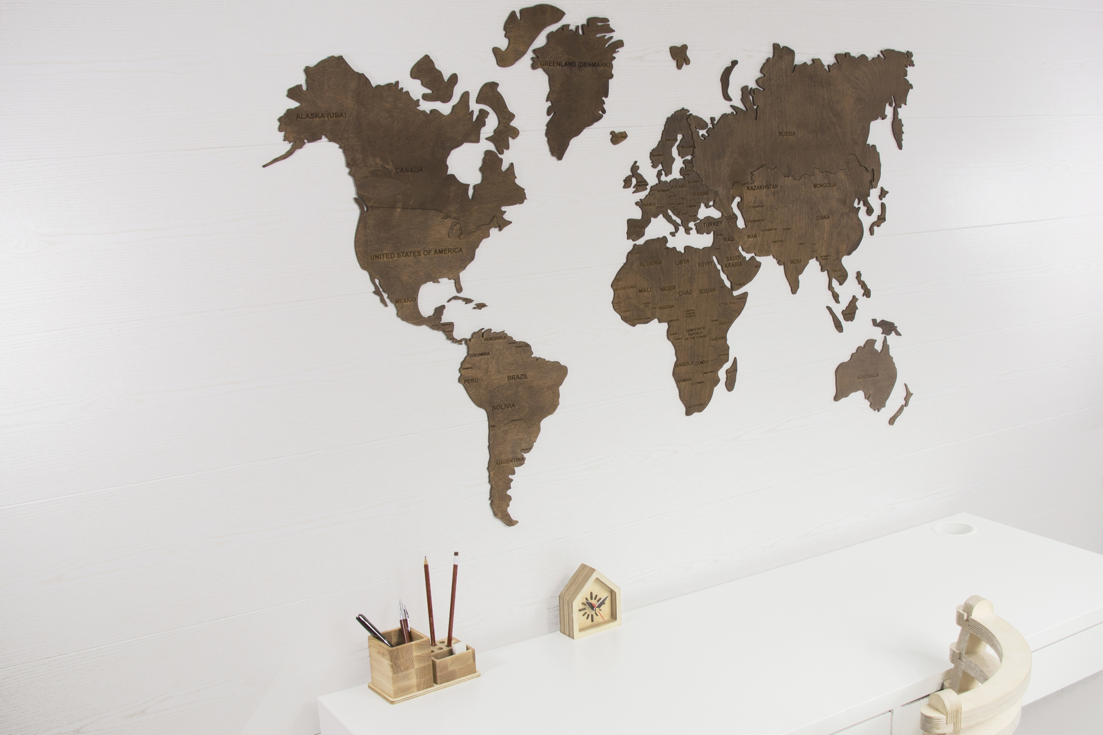 World Map Wall, World Map Hanging, World Map Wooden, World Map Wood Pertaining To Most Current Wall Art World Map (View 9 of 20)