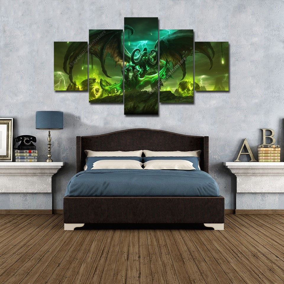 World Of Warcraft Legion Wall Art Prints Canvas 5 Piece Poster Inside Current Wall Art Prints (View 20 of 20)