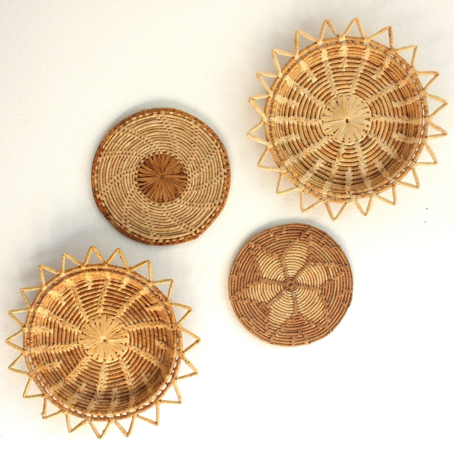 Woven Starburst Wall Basket Art Boho Beach Decor | Pinterest Intended For Most Up To Date Woven Basket Wall Art (View 20 of 20)