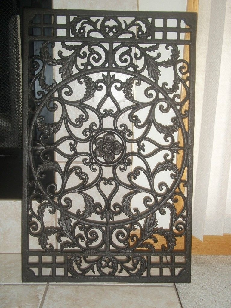 Wrought Iron Wall Decor For Large Area Art Canada Contemporary Metal Regarding Most Recent Large Outdoor Wall Art (View 12 of 20)