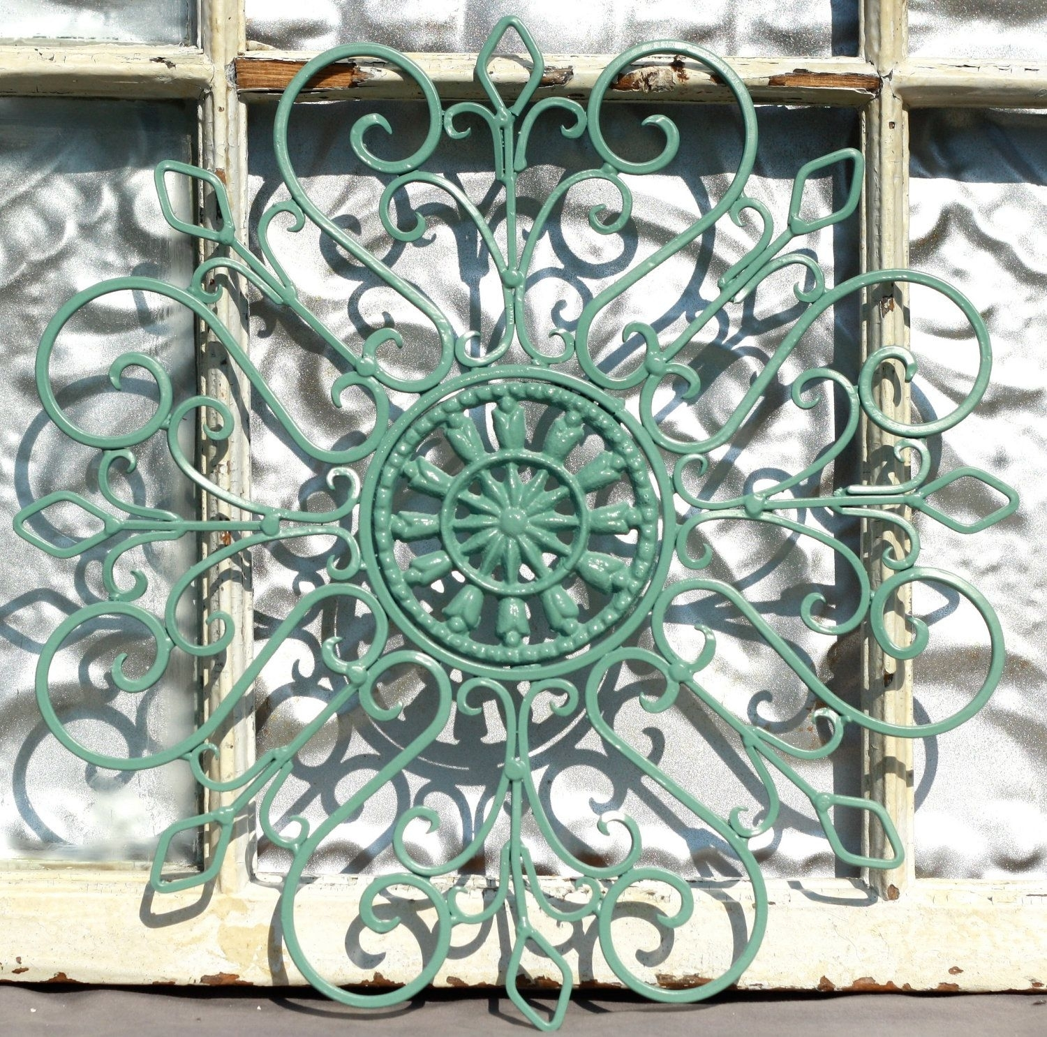 Wrought Iron Wall Decor/ Metal Wall Hanging/ Indoor/ Outdoor Metal With Regard To Best And Newest Metal Outdoor Wall Art (Gallery 10 of 20)