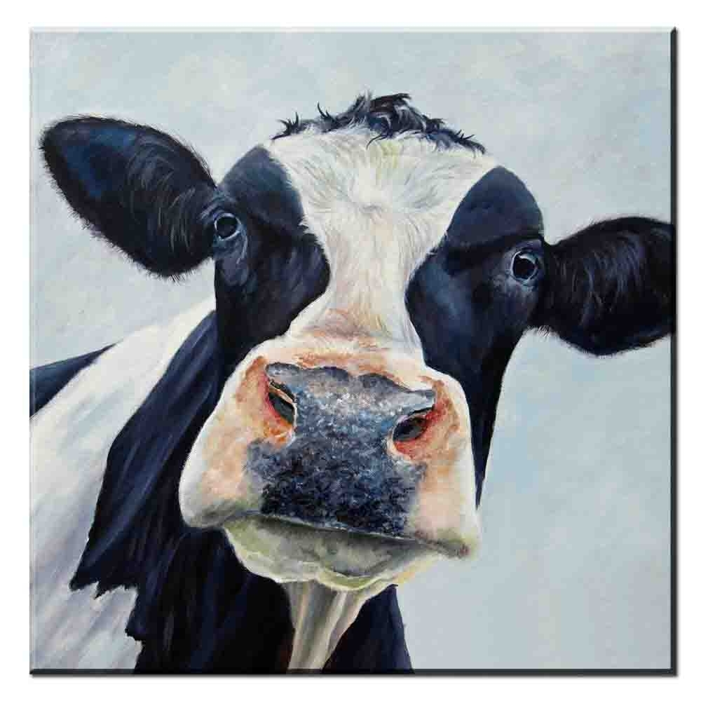 Xdr187 Abstract Canvas Wall Art Picture Colorful Cow Animal Canvas Inside Current Cow Canvas Wall Art (View 19 of 20)