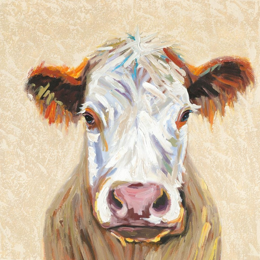 "Y Decor 36 In. X 36 In. ""hereford Cow"" Canvas Wall Art E0442 – The Throughout Most Popular Cow Canvas Wall Art (Gallery 7 of 20)"