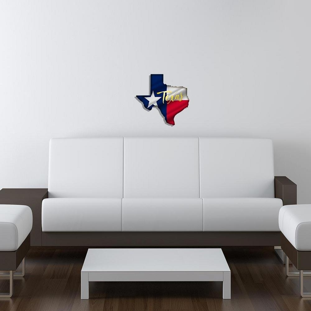 Yellow Texas Flag Metal Wall Art 101410034 Yellowtexas – The Home Depot Throughout Most Popular Texas Wall Art (View 17 of 20)