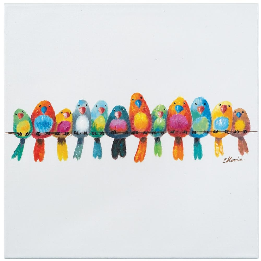 "Yosemite Home Decor 20 In. H X 20 In. W ""birds On A Wire Iii Throughout Most Up To Date Birds On A Wire Wall Art (Gallery 14 of 20)"