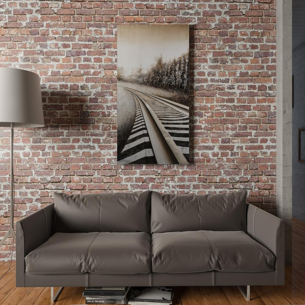 """Yosemite Home Decor 59 In. X 30 In. """"long Commute"""" Hand Painted For Most Up To Date Long Canvas Wall Art (Gallery 17 of 20)"""