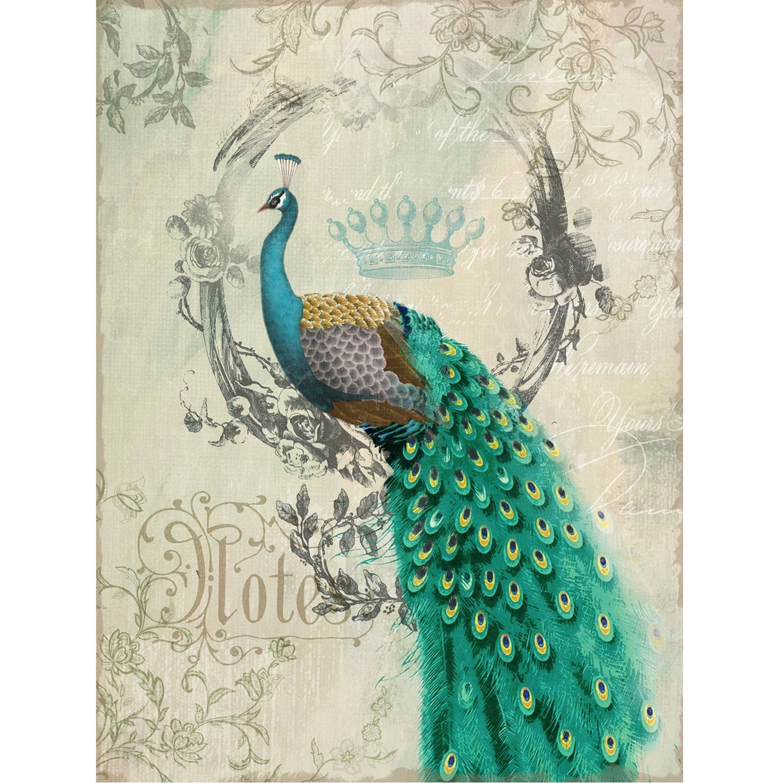 Yosemite Home Decor Peacock Poise Ii Wall Art – 24W X 35H In With Regard To Most Current Peacock Wall Art (Gallery 6 of 15)