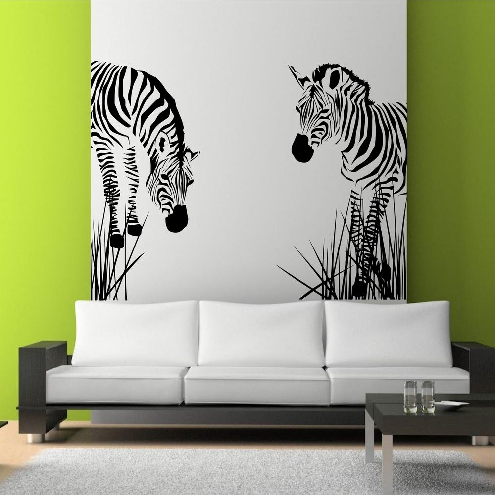 Zebra Prints For Walls Zebra Wall Mural Wall Hanging Decor Framed Intended For Best And Newest Art For Walls (View 11 of 20)