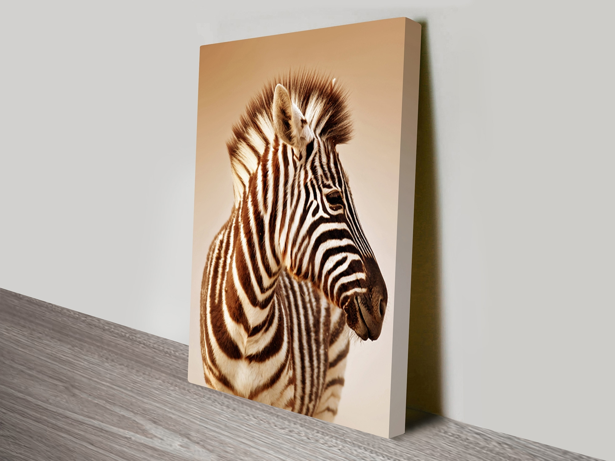 Zebra Sepia Canvas Wall Art Prints Wollongong Intended For Most Recent Zebra Canvas Wall Art (View 15 of 20)