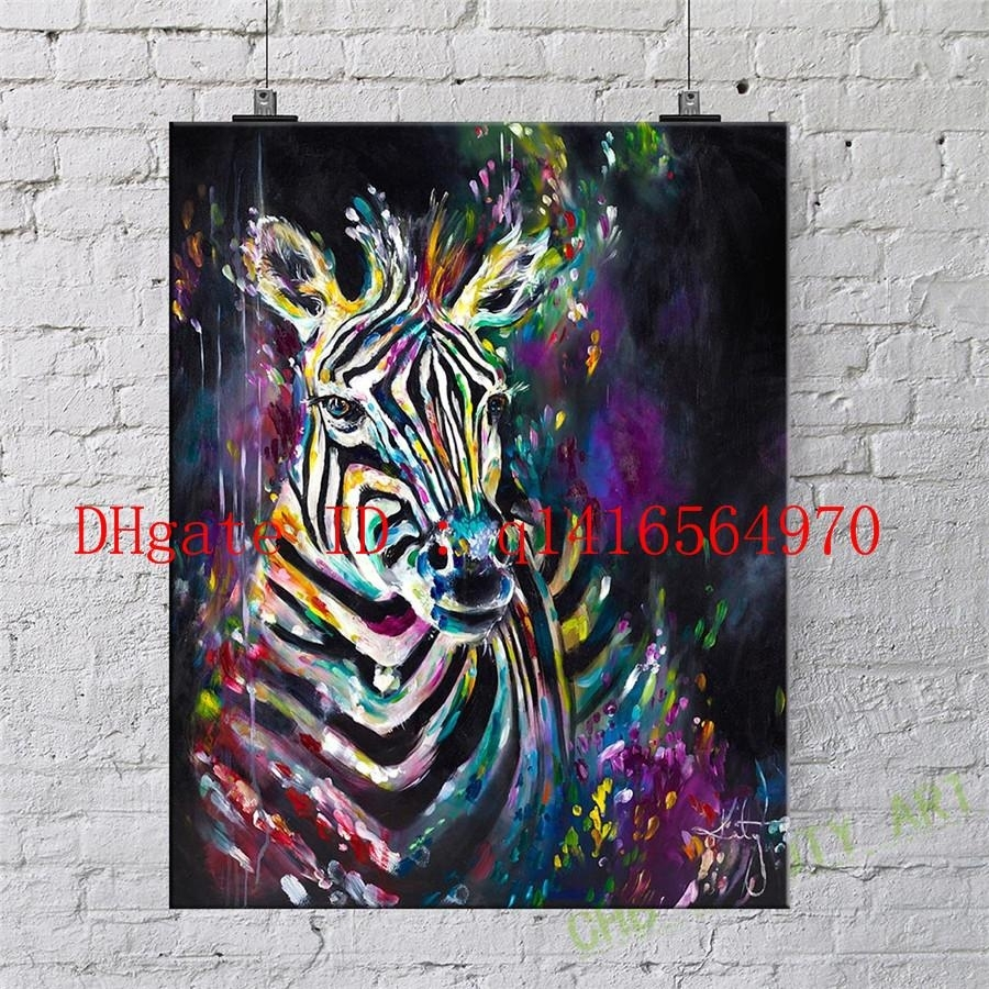 Zebra,canvas Prints Wall Art Oil Painting Home Decor 24x36 20x30 Pertaining To Best And Newest Zebra Canvas Wall Art (Gallery 20 of 20)
