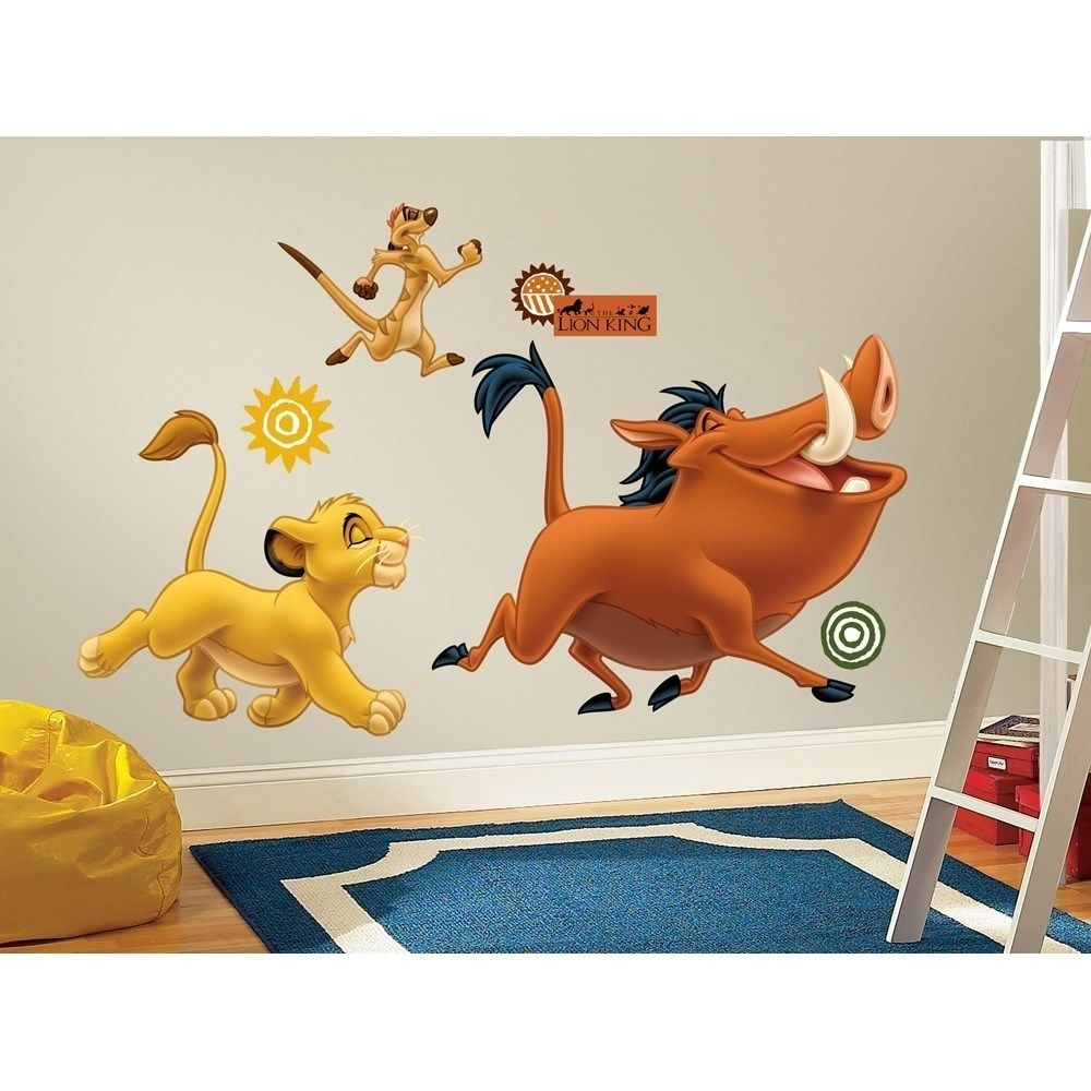 Zspmed Of Lion King Wall Decals Regarding Most Current Lion King Wall Art (View 9 of 20)