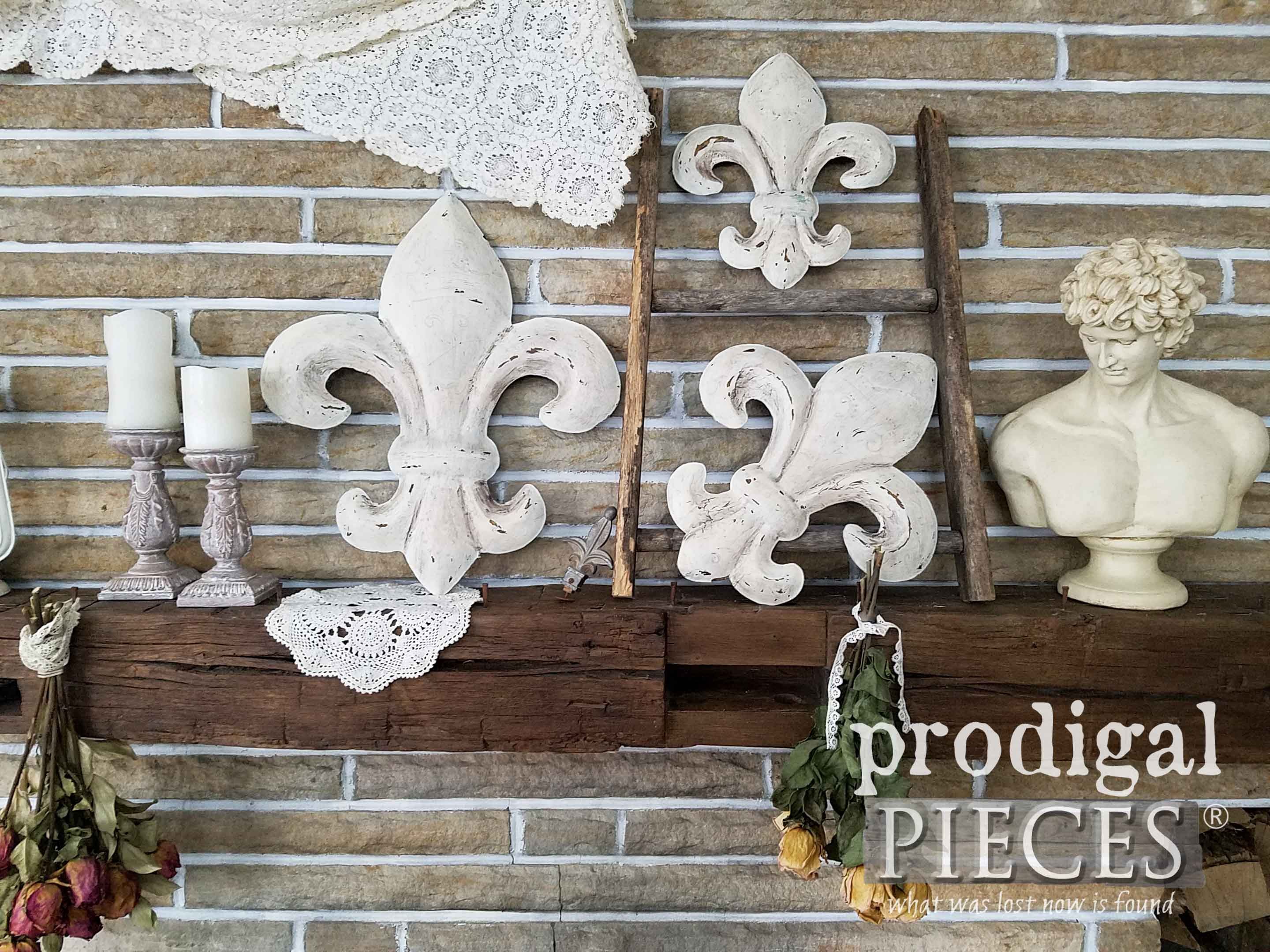 2 Piece Metal Wall Decor Sets By Fleur De Lis Living With Regard To Most Popular Fleur De Lis Wall Art ~ From Thrifted To Fabulous – Prodigal Pieces (View 4 of 20)
