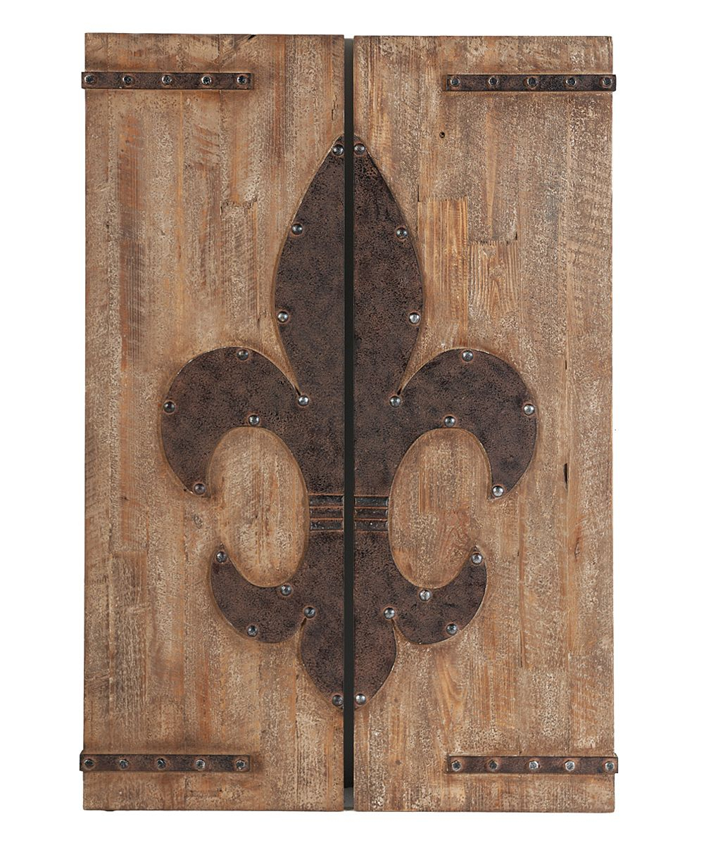2 Piece Metal Wall Decor Sets By Fleur De Lis Living Within Well Known Fleur De Lis Wall Panel – Set Of Two. 16'' W X 47'' H. $ (View 6 of 20)
