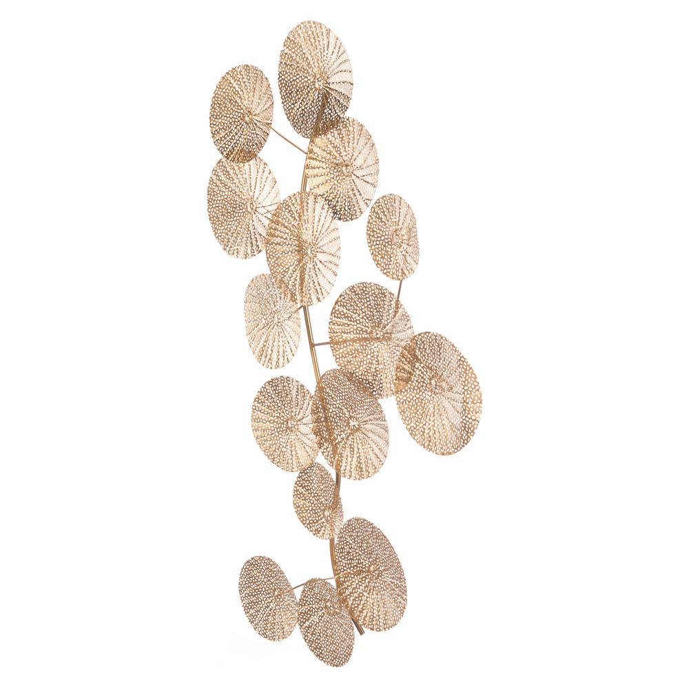 2 Piece Multiple Layer Metal Flower Wall Decor Sets In Current Zuo Modern Metal Multi Petals Wall Decor A10811 – The Home Depot (Gallery 10 of 20)
