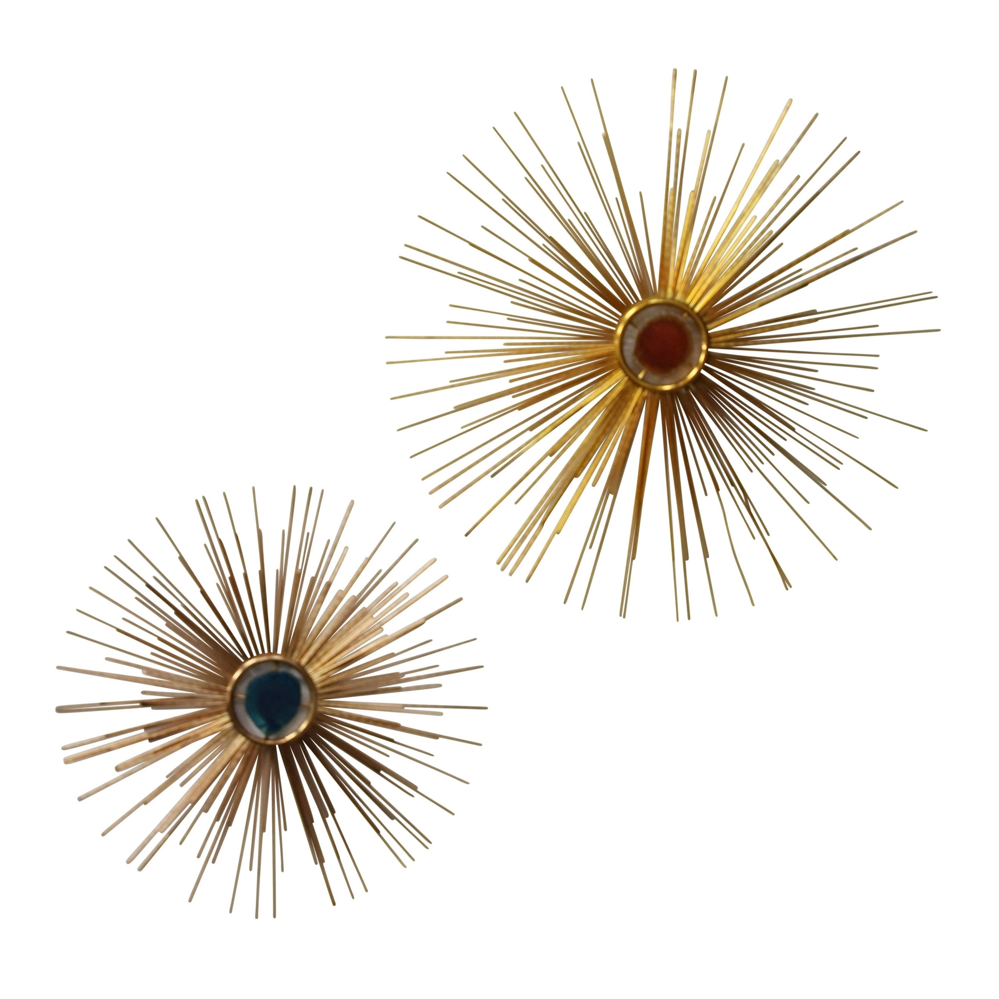 2 Piece Starburst Wall Decor Sets Pertaining To Newest Shop Starburst Gold With Colored Centers Metal Wall Décor (Set Of  (View 1 of 20)