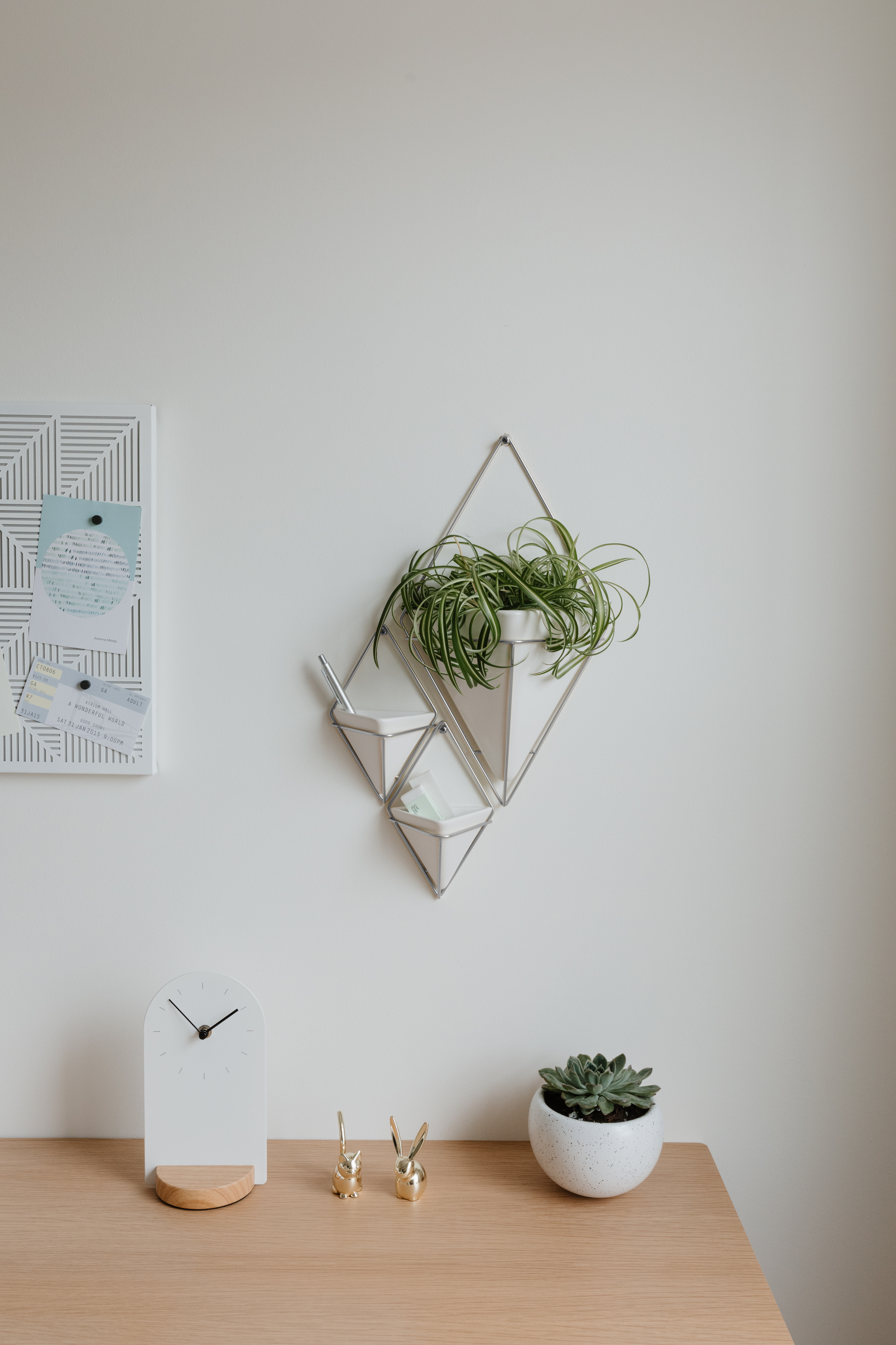 2 Piece Trigg Wall Decor Sets (Set Of 2) Pertaining To Trendy Trigg Hanging Planter Vase & Geometric Wall Decor Container – Great (View 2 of 20)
