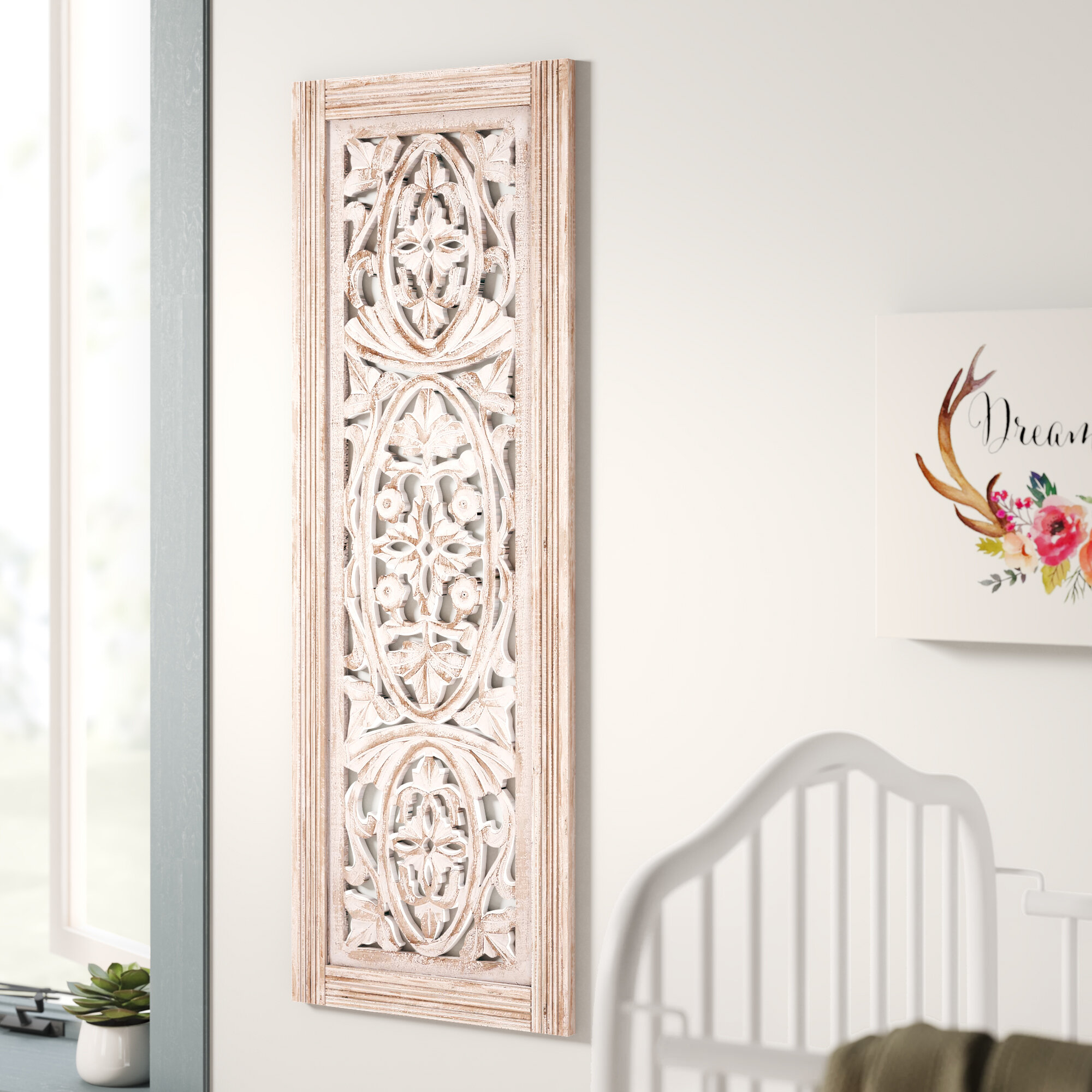 2019 1 Piece Ortie Panel Wall Decor With Mistana Beige Distressed Wood Wall Décor & Reviews (Gallery 19 of 20)